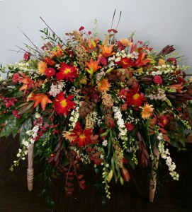 Blessings of Fall Casket top