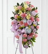 Blessings of the Earth Easel sympathy flowers