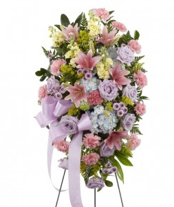 BLESSINGS OF THE EARTH Standing Spray in Riverside, CA | Willow Branch Florist of Riverside