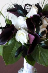 Bling & Feather Handtied Wedding Bouquet