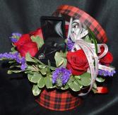 bling in a box hat box arrangement