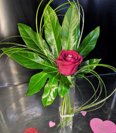 Bling It On Bud Vase