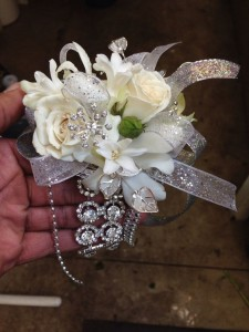 Blinged Out  Wrist Corsage in Elyria, OH | PUFFER'S FLORAL SHOPPE, INC.