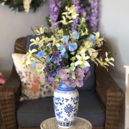 Blissful Blues Silk Floral Arrangement
