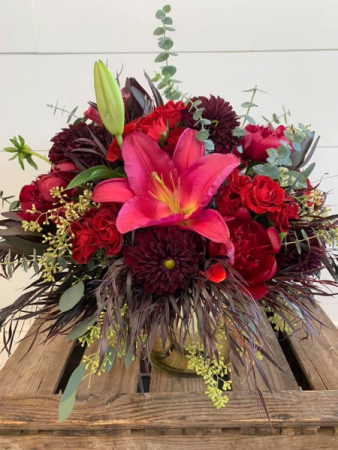 Blissful Burgundy Floral Arrangement