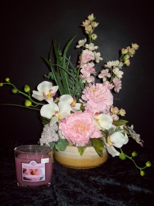 Blissful in pink silk flower arrangement in dallas or blissful in pink silk flower arrangement mightylinksfo