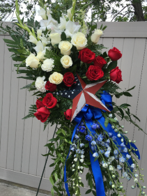 Blissful Patriot Standing Tribute Spray Standing Spray