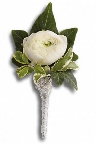 Blissful White Boutonniere in San Mateo, CA | GREEN FASHION NURSERY
