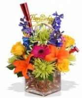 Block of Birthday Birthday Flowers