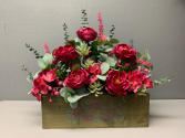 Bloom box with artificial flowers Artificial silk