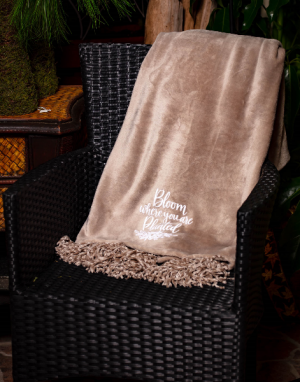 'Bloom where you are planted' Blanket  in Milton, FL   PURPLE TULIP FLORIST INC.
