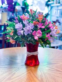 Blooming Alstros Floral Arrangement