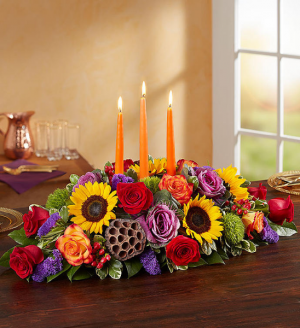 Blooming Autumn Centerpiece Was $124.99 Now $99.99 in Sunrise, FL | FLORIST24HRS.COM