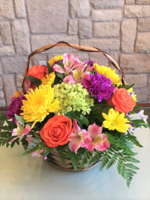 Blooming Basket CUSTOM ARRANGEMENT