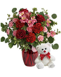 Blooming Belles Stuffed Animal Bundle vase