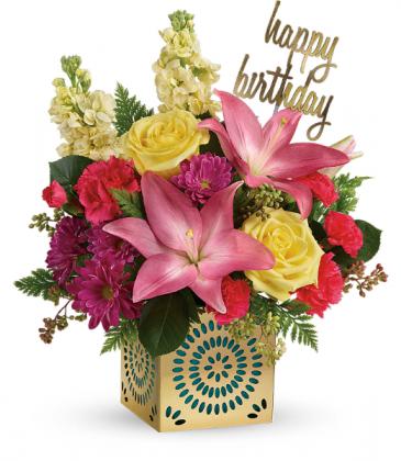 Blooming Birthday All-Around Floral Arrangement