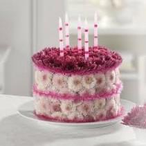 Blooming Birthday Cake EV82-11 Fresh Cake Arrangement