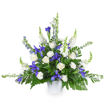Blooming Blues Sympathy Basket