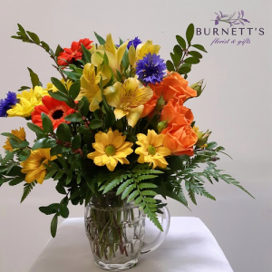 Blooming Bruski Vase Arrangement in Kelowna, BC   Burnett's Florist