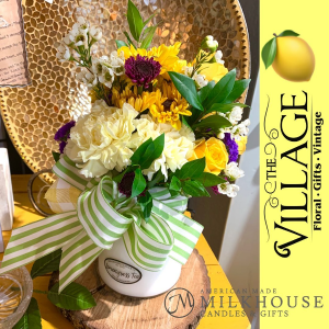 Blooming Candle Candle with Fresh Flowers in Texarkana, TX | The Village Floral & Gifts