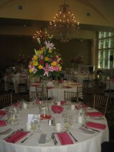 Blooming centerpiece pink