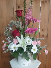 Blooming Elegance Valentine arrangement