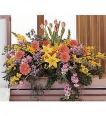 Blooming Glory Casket Spray  Casket Arrangement