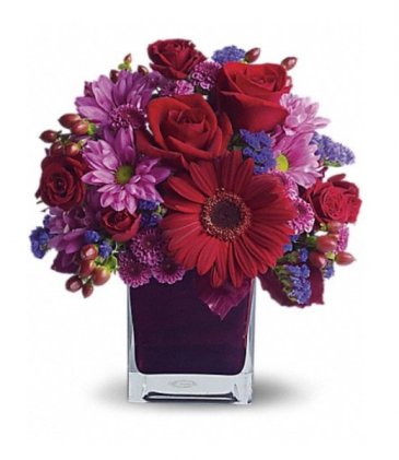 Blooming jewel tones  Vase