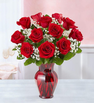 Blooming Love 12 Red Roses  Red Rose Arrangement in Springfield, MO | FLOWERAMA #226