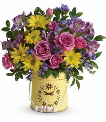 Blooming Pail Teleflora Bouquet