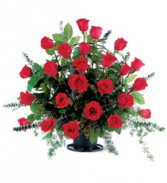 Blooming Red Rose Basket