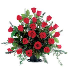 Blooming Red Rose Basket