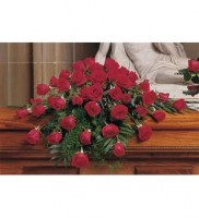 Blooming Red Roses Casket Spray Casket Spray