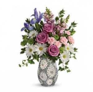 Blooming Vase Bouquet in Bryan, OH | Farrell's Lawn & Garden and Flowers