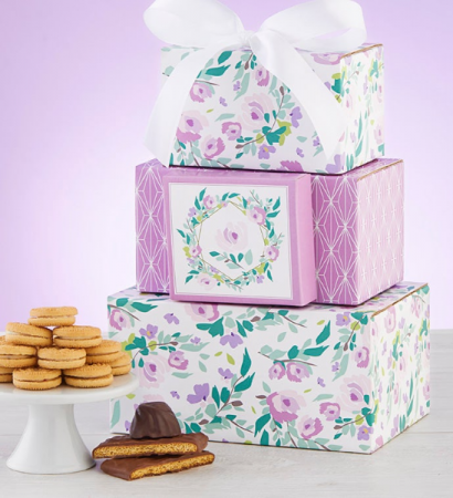 Blooming' Spring Sweets Tower Candy, Cookies, & Chocolates Gift Tower
