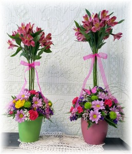 Blooming Topiary 2 sizes shown * see details in Hesperia, CA | ACACIA'S COUNTRY FLORIST