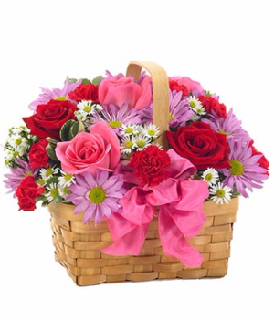 Bloomnet's Basket of Love  in Valley City, OH | HILL HAVEN FLORIST & GREENHOUSE