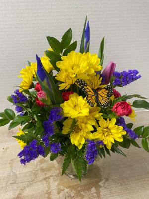 Blooms and Butterflies Arrangement in Cherokee, IA   Blooming House