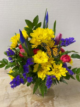 Blooms and Butterflies Arrangement
