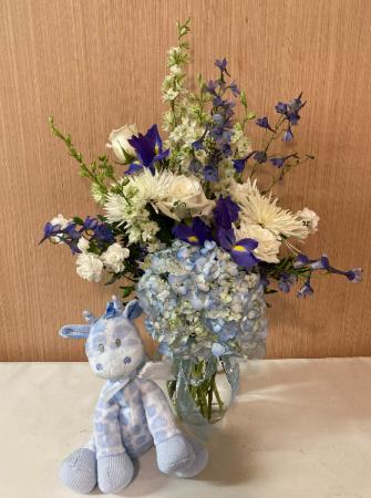 Blossom Baby - Blue Vase Arrangement