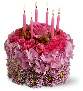 Blossom Birthday Cake Floral Bouquet in Whitesboro, NY | KOWALSKI FLOWERS INC.
