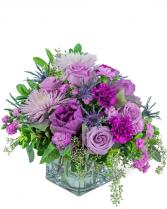 Blossoming Amethyst Flower Arrangement