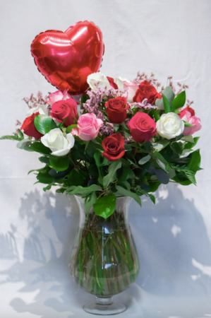 Blossoming Love Vase Arrangement in Delta, BC   FLOWERS BEAUTIFUL