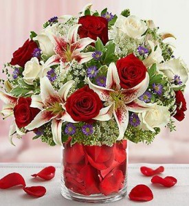 Roses and Lilies Galore Bouquet By Enchanted Florist