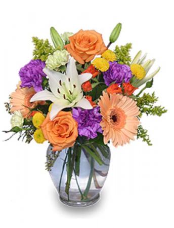Blossoms bouquet  Vase