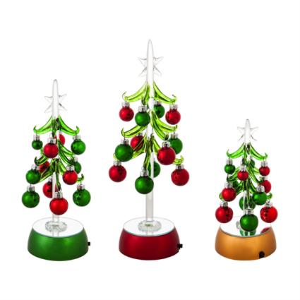 Blown Glass Christmas Trees