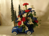 Blue 4x4 truck Arrangement (local delivery only)