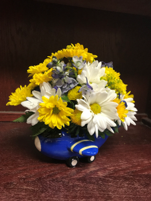 BLUE AIRPLANE NEW BABY in Katy, TX | KD'S FLORIST & GIFTS