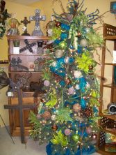 Blue and Green Christmas Tree