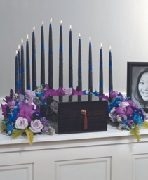 Blue and Purple Urn Cremation